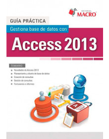 Gestiona base de datos con Access 2013